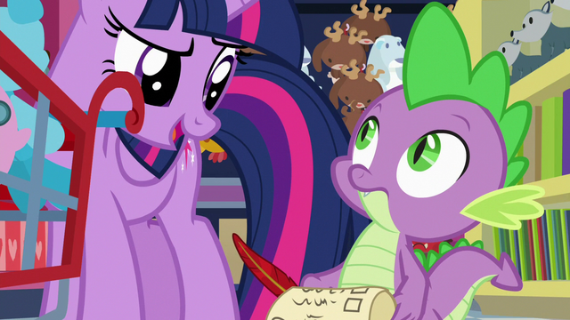 """File:Twilight to Spike """"and more efficient"""" S7E3.png"""