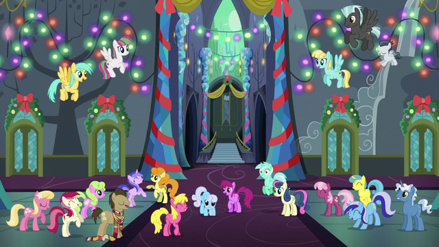 File:Ponies partying and dancing together S6E8.png