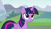 Twilight listens intently to Discord S5E22