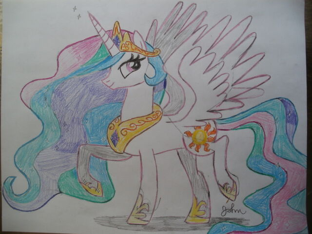 File:FANMADE Princess Celestia drawing.jpg