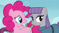 Pinkie Pie sad that Maud decides to leave S4E18