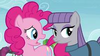Pinkie Pie sad that Maud decides to leave S4E18