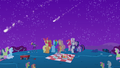 Ponies watching the rest of the meteor shower S1E24.png