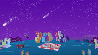 Ponies watching the rest of the meteor shower S1E24