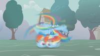 Rainbow spinning on the ground S1E06