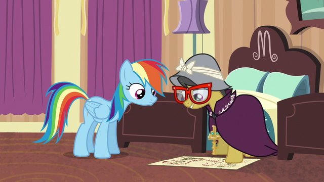 File:A. K. Yearling shows map to Rainbow Dash S6E13.png