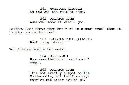 Wonderbolts Academy script - original ending (part 2)
