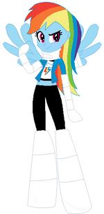 FANMADE Rainbow Dash Human Injured
