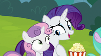 "Rarity ""you love these puppet shows"" S7E6"