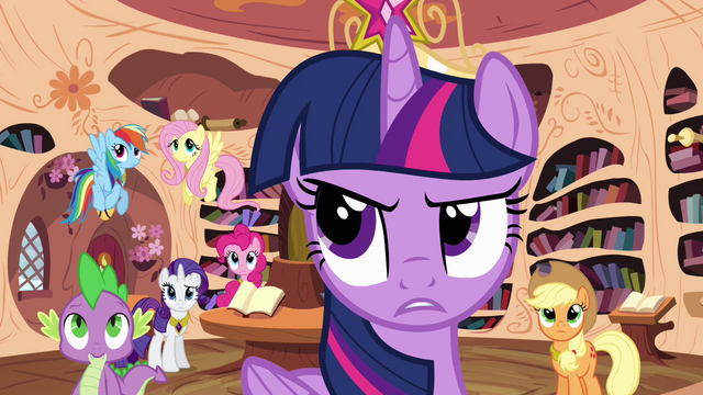 """File:Twilight and friends """"strange weather patterns"""" S4E01.png"""