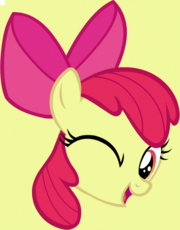 Apple Bloom winking face cutie mark crop S5E4