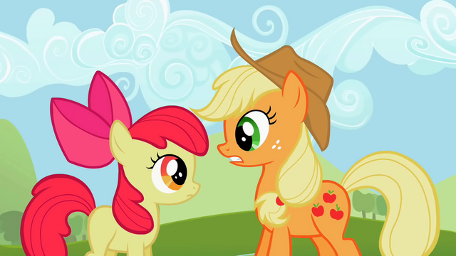 File:Applejack telling Apple Bloom what's uncouth S2E05.png