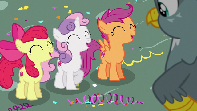 """File:Cutie Mark Crusaders """"come back soon!"""" S6E19.png"""