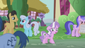 Diamond Tiara sings while walking through Ponyville S5E18.png