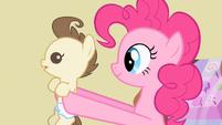 Pinkie Pie holding Pound Cake S2E13