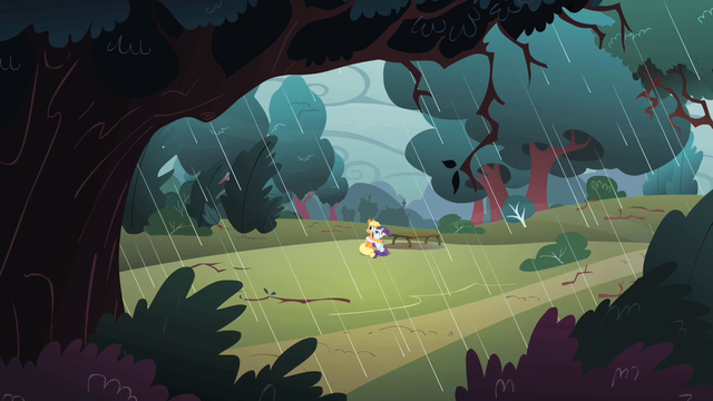 File:Applejack and Rarity in the rainstorm S1E08.png