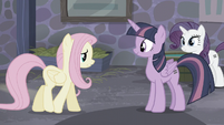 Fluttershy walking towards Twilight S5E02