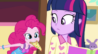 Pinkie with slice of pizza in her mouth EG2