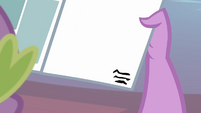 Small text on the blank page S4E06