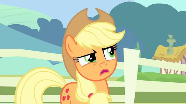 File:Applejack 'Maybe' S4E11.png