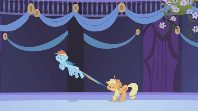 File:Applejack restrains Rainbow Dash S01E02.png