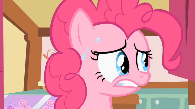 File:Pinkie Pie sweating because she is nervous S2E06.png