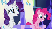 Rarity giving a short laugh S6E12