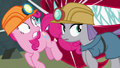 Pinkie and Maud barely avoid eel teeth S7E4.png