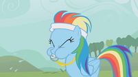 Rainbow Dash blowing her whistle S1E12