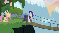 Rarity and Fluttershy crossing bridge S4E03