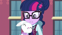 Angel nuzzling Twilight Sparkle EG3