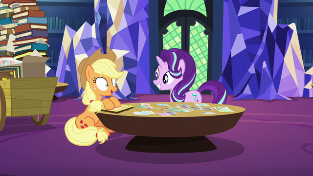 """File:Applejack """"sure thing, Starlight Glimmer"""" S6E21.png"""
