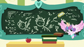 Flurry Heart drawing on Cheerilee's chalkboard S7E3.png