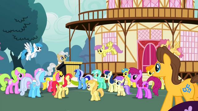 File:Ponyville Crowd Cheer S2E14.png