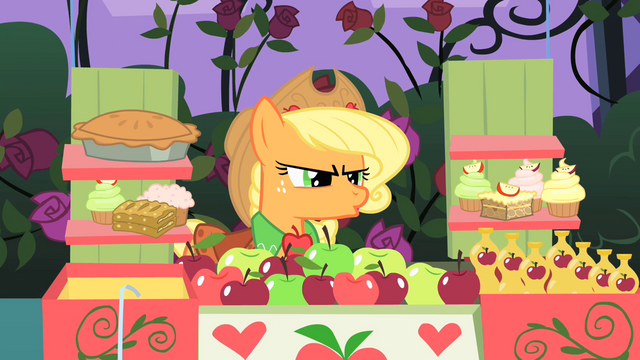 File:Applejack insulted by Prince Blueblood S1E26.png