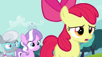 Diamond Tiara and Silver Spoon walking behind Apple Bloom S4E15