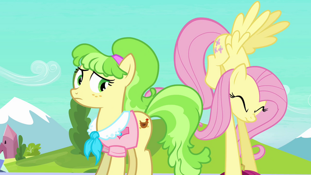 File:Fluttershy struggles with Peachbottom's luggage S03E12.png
