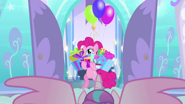 File:Pinkie Pie with hooves full of presents BFHHS1.png