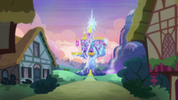 Friendship Rainbow Kingdom castle in the distance S5E3