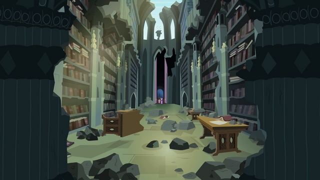 File:Twilight and Spike sees the library S4E03.png