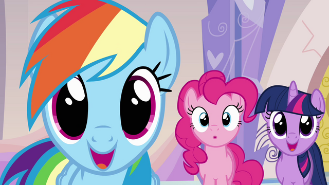 File:Ponies reacting to Ms. Harshwhinny's announcement S03E12.png