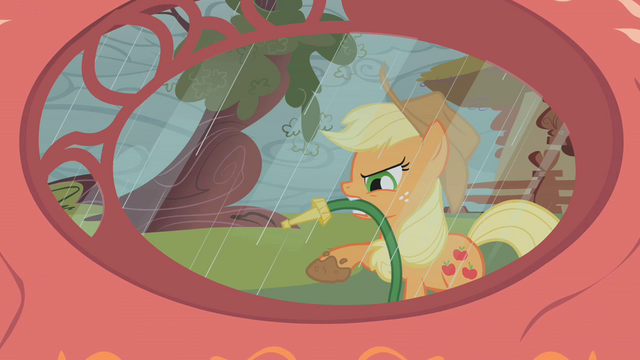 File:Applejack with a hose S1E08.png