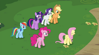Fluttershy directing her friends S4E16