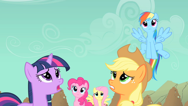 File:Main ponies worried about Rarity S01E19.png