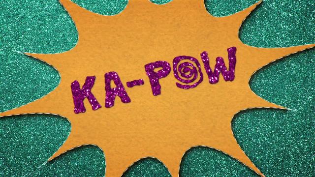 "File:""KA-POW"" text in felt BFHHS1.png"