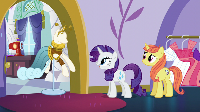 File:Rarity brings out Fountain of Truth dress S5E14.png