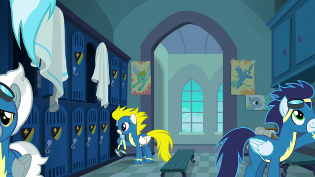 File:Wonderbolts in the locker room S6E7.png