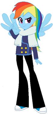 FANMADE Rainbow Dash Human Winter 2