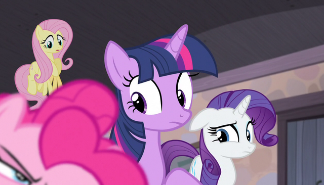 File:Pinkie's friends give her weird looks S5E1.png