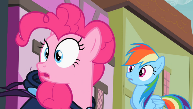 File:Rainbow Dash and Pinkie Pie staring S02E08.png